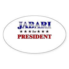 JABARI for president Oval Decal