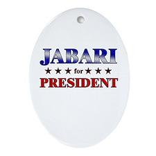 JABARI for president Oval Ornament