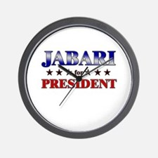 JABARI for president Wall Clock