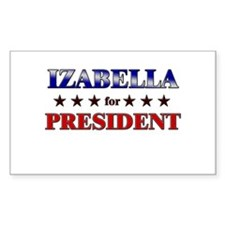 IZABELLA for president Rectangle Decal