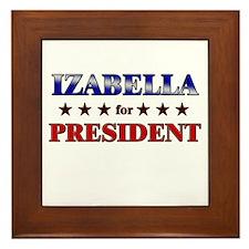IZABELLA for president Framed Tile