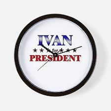 IVAN for president Wall Clock