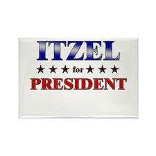 ITZEL for president Rectangle Magnet