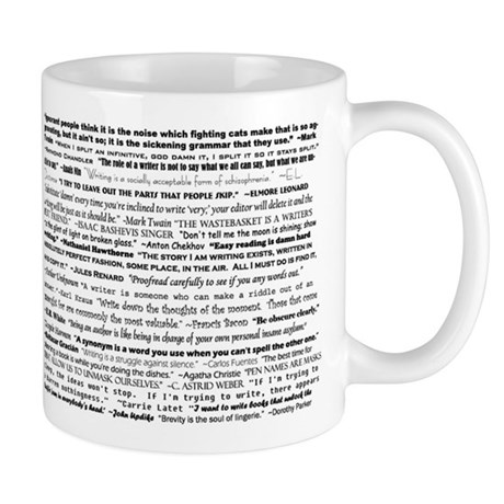3-writingquotes Mugs