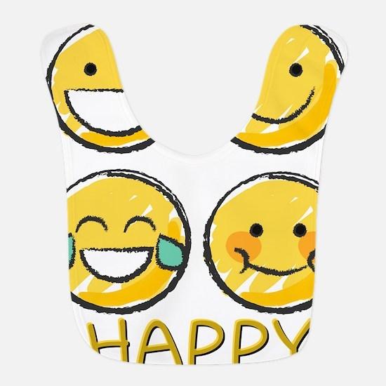 Happy Emojis Bib