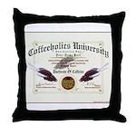 Coffeeholics Diploma Throw Pillow