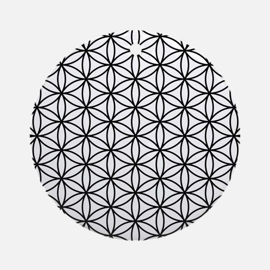 Funny Sacred geometry Round Ornament