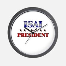 ISAI for president Wall Clock