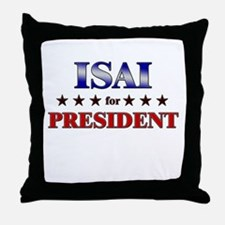 ISAI for president Throw Pillow
