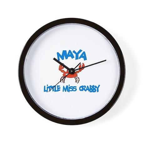 Maya - Little Miss Crabby Wall Clock