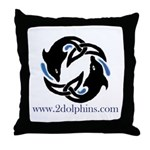 2Dolphins Throw Pillow