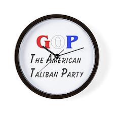 GOP American Taliban Wall Clock