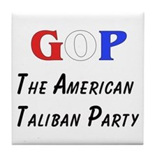 GOP American Taliban Tile Coaster