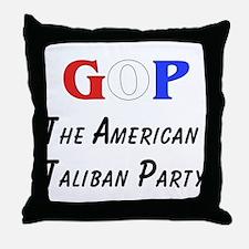 GOP American Taliban Throw Pillow