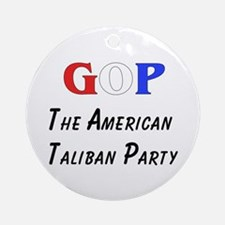 GOP American Taliban Ornament (Round)