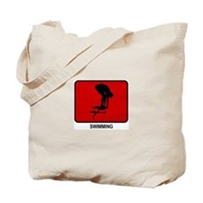 Swimming (red) Tote Bag