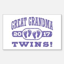 Great Grandma 2017 Twins Sticker (Rectangle)