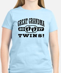 Great Grandma 2017 Twins T-Shirt