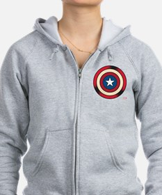 Captain America Comic Shield Zip Hoodie