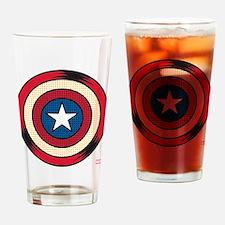 Captain America Comic Shield Drinking Glass