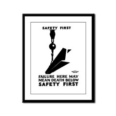 Safety First 1937 Framed Panel Print