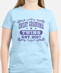 Great Grandma Twins Est. 201 T-Shirt