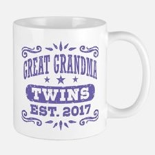 Great Grandma Twins Est. 2017 Mug
