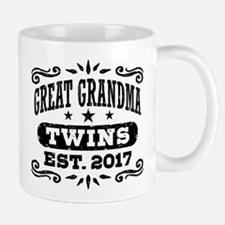 Great Grandma Twins Est. 2017 Mug