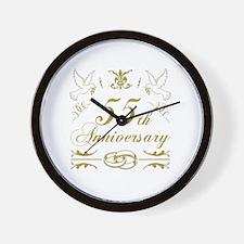 Cute 55 years anniversary Wall Clock