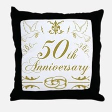 Unique 50th anniversary Throw Pillow