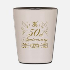 Funny 50th anniversary Shot Glass