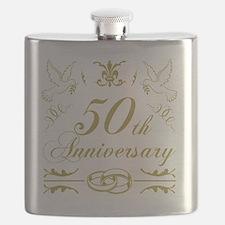 Cute 50th wedding anniversary Flask
