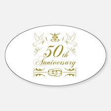 Cute 50th wedding anniversary Decal