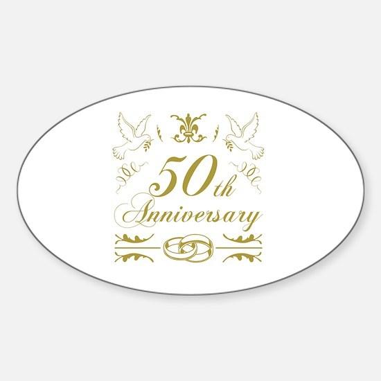 Unique 50th wedding anniversary Sticker (Oval)