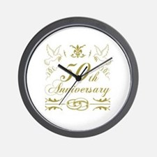 Cute 50 years Wall Clock