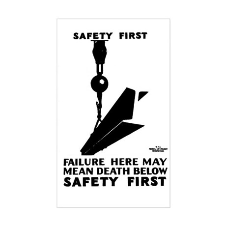 Safety First 1937 Rectangle Sticker