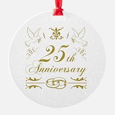 Unique 25th wedding anniversary Ornament