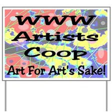 WWW Artists Coop Yard Sign
