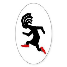 Kokopelli Runner Oval Decal