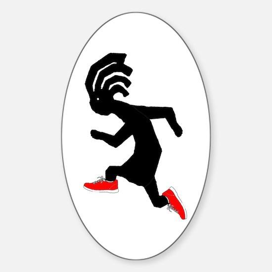 Kokopelli Runner Oval Decal
