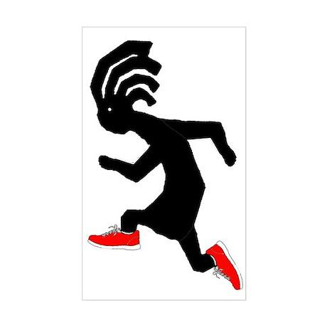 Kokopelli Runner Rectangle Sticker