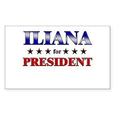ILIANA for president Rectangle Decal