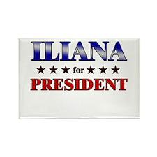 ILIANA for president Rectangle Magnet