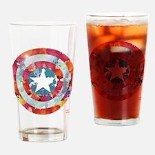 Captain America Tie-Dye Shield Drinking Glass