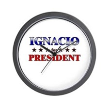 IGNACIO for president Wall Clock