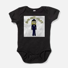 Cute Women pilots Baby Bodysuit