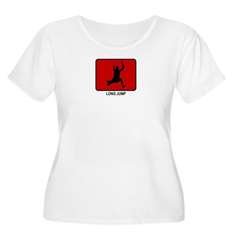 Long Jump (red) Women's Plus Size Scoop Neck T-Shi