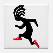 Kokopelli Runner Tile Coaster