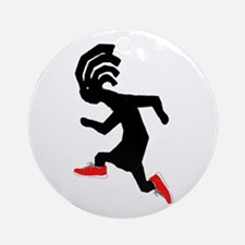 Kokopelli Runner Ornament (Round)