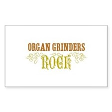 Organ Grinders Rectangle Decal